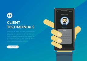 Testimonial Design UI Preview. Consument Testimoni, Kundenbewertung.