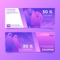 Moslem Fashion Store Coupon Template Vector