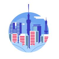 Illustration vectorielle de Tokyo Skyline