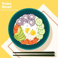 poke bowl vektor design