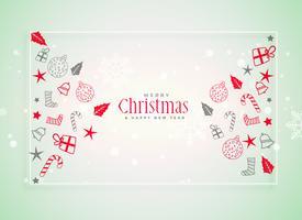 Fondo festival de navidad con elementos decorativos.