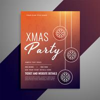 clean christmas poster design with snowflake ball