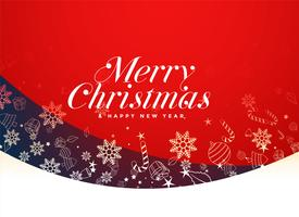 red merry christmas festival background design