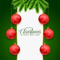 greeting design for christmas festival