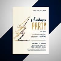 christmas celebration flyer design template