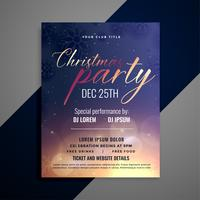 christmas party invitation flyer template design