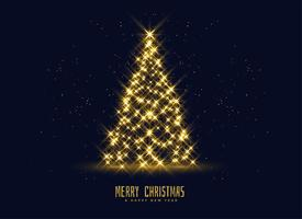 golden sparkles christmas tree background