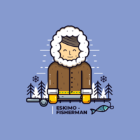 Eskimo guy Vector