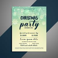 lovely christmas snowflakes flyer design