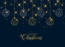 lovely christmas hanging balls sparkle background