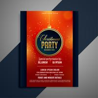 beautiful party flyer for christmas celebration