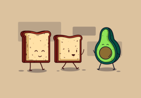 avocado toast vector