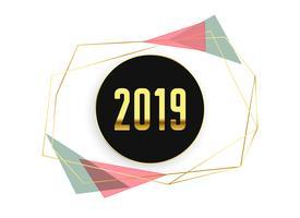 elegante 2019 mínimo feliz ano novo fundo