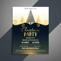 merry christmas lovely flyer template design