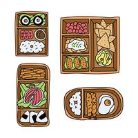 Doodled Bento Box Set