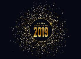2019 happy new year celebration background with glitter and spar