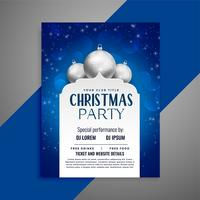 elegant invitation christmas flyer design template