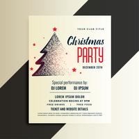 stylish christmas tree party invitation flyer