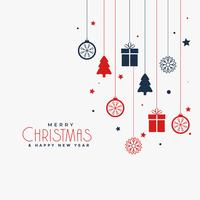 christmas poster design with decorative elements