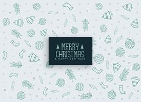 merry christmas elements pattern background