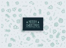 feliz navidad elementos patrón de fondo