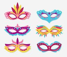 Venecia carnaval máscara vector