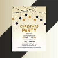 christmas festival celebration flyer design template