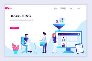 Recruiting Web Banner vector