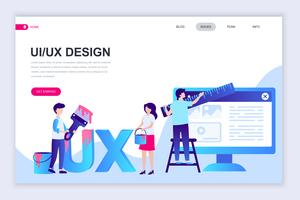 UX, banner da Web da interface do usuário