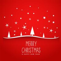 awesome red merry christmas tree background