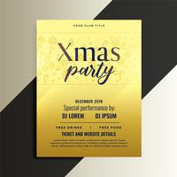 golden flyer design for christmas festival