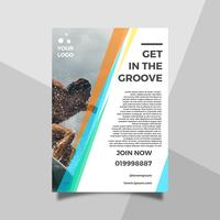 Flat Health Lifestyle Surfing Sport Flyer Template vector