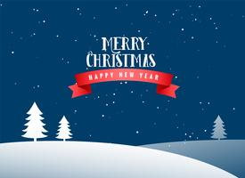 merry christmas winter landscape background