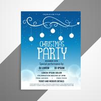 blue christmas flyer poster design with event details