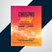 vibrant christmas snowflakes flyer design template