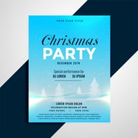 poster design for christmas celebration party with lovely lansca