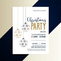 christmas holiday party invitation flyer design template