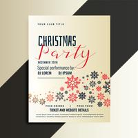red and black christmas flyer design template