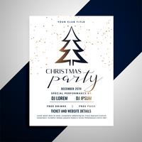 clean christmas flyer poster with tree