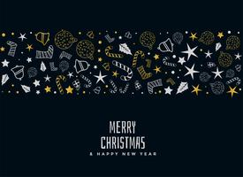 merry christmas decorative card design