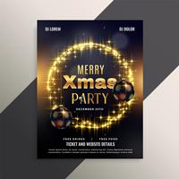 beautiful shiny christmas flyer poster design