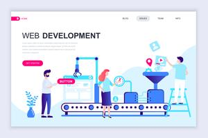 Web Development Web Banner vector