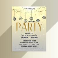 christmas party event flyer design template