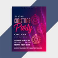 shiny merry christmas flyer template with copyspace