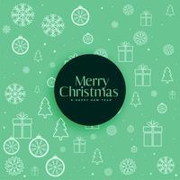 Fondo verde patrón decorativo de Navidad