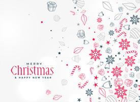 merry christmas decoratieve element ontwerp achtergrond