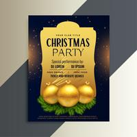 beautiful luxury party flyer for christmas festival