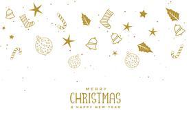 Volando elementos de Navidad sobre fondo blanco