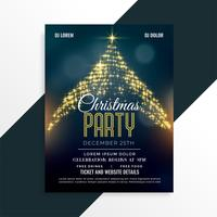 luxe christmas sparkle tree flyer ontwerpsjabloon