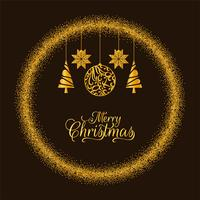 Merry Christmas golden glitters background